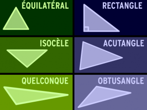 Différents types de triangles