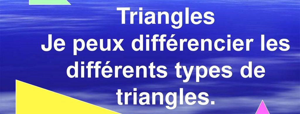 différents types de triangles - image